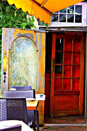 Doors Weathered Wood Glass Painted Deco Design Metal Brass Interesting Different Photography