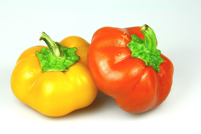 Bell Pepper Cherry Tomato Close-up Food Freshness Green Color Healthy Eating No People Orange Color Organic Raw Food Red Red Bell Pepper Red Chili Pepper Ripe Still Life Studio Shot Tomato Vegetable White Background Yellow Bell Pepper