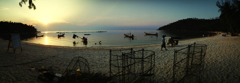 Sunset Koh Phangan Thailand Island