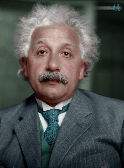 Albert Einstein (1879 - 1955), Nobel prized physicist, colorized from a 1931 photo by Johan Hagemeyer Celebrity Professor Scientist Colorized Einstein Genius One Person People Portrait White Hair