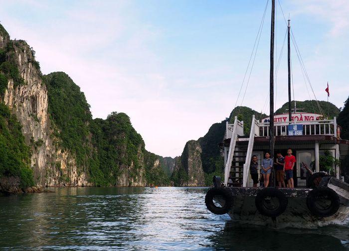 children of the Bay ASIA Children Halong Bay Vietnam Junk Rock Vietnam Boat