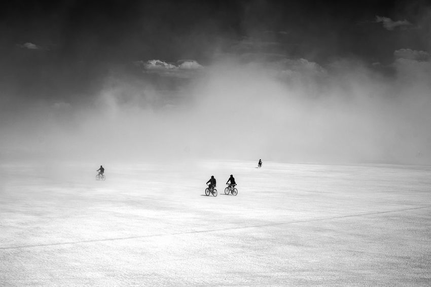 Adventure Adventuretime Beauty In Nature Bicycles Blackandwhite Burningman Cycling Day Desert Different Duststorm Enjoyment Exploring Going Away Going The Distance Home Landscape Non-urban Scene Outdoors Serene Serene Outdoors Silhouette Space Tranquil Scene Unrecognizable Person