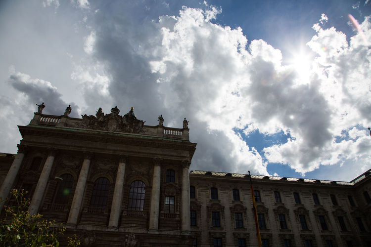 Architectural Column Architecture Building Exterior Built Structure Cloud - Sky Day Justizpalast In München Low Angle View No People Outdoors Sky Travel Destinations