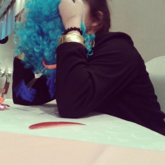 Alpedo Peluca Azul Grr :)