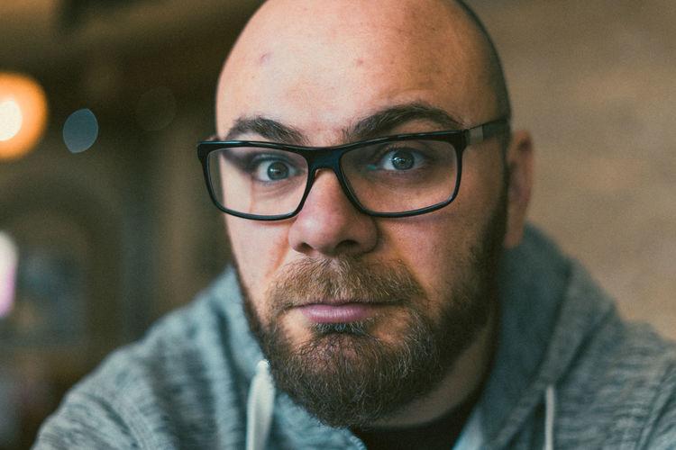 Portrait Of Man Wearing Eyeglasses
