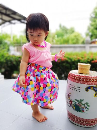 Sleepy Baby Dress Dress Babygirl Baby Girl Girls Newborn Kid Kids Beauty In Nature Nature People Happy Child Full Length Childhood Smiling Girls Portrait Multi Colored Cute Happiness Dress Blooming Cosmos Flower Pink Color Bangs Sundress In Bloom Skirt