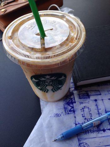 I'm here again! Favorite place to work :) Caramel Macciato  Starbucks Icedcoffee Enjoying Life