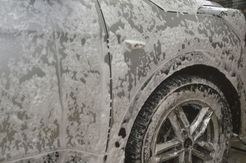 Water drops on car window
