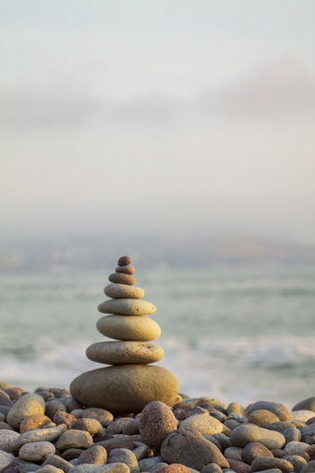 Zen Rocks Balance Balance Beach Beauty In Nature Horizon Over Water Land Nature No People Outdoors Pebble Relaxation Rock Rock - Object Scenics - Nature Sea Sky Solid Stack Stone Stone - Object Tranquil Scene Tranquility Water Zen Zen-like