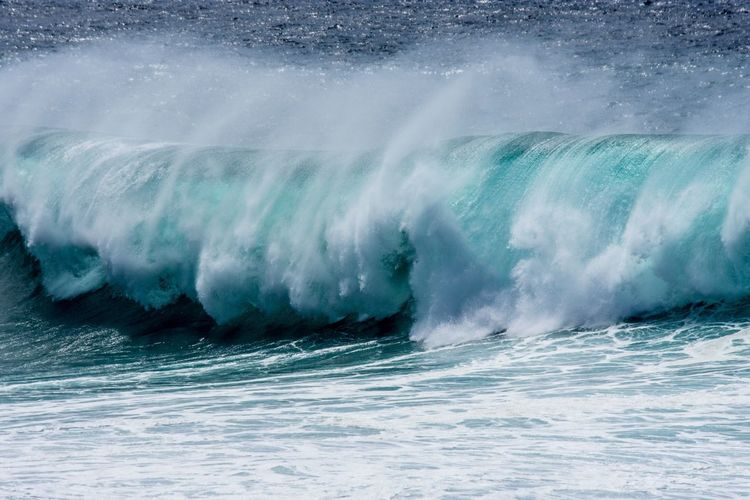 ... And how beautiful is our planet ? Blue Wave Blue Waves Waves Crashing Ocean View Ocean Sound Of Life Outdoors Power In Nature Canary Islands Fuerteventura Paradise Beach Landscape Wild Color Palette Color Palette