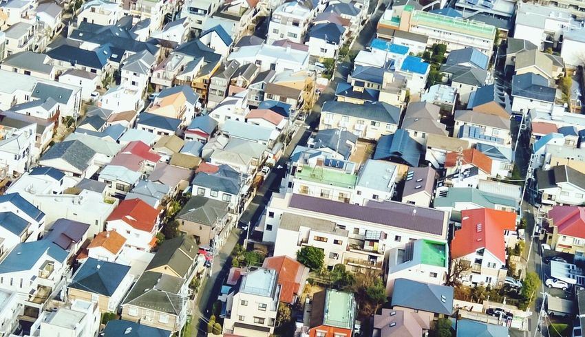 City landscape Roof Architecture Aerial View Cityscape High Angle View Downtown District Residential Building Urban Skyline Apartment Houses Houses And Homes City Life Urban Geometry Urban Landscape Tokyo,Japan Tokyo