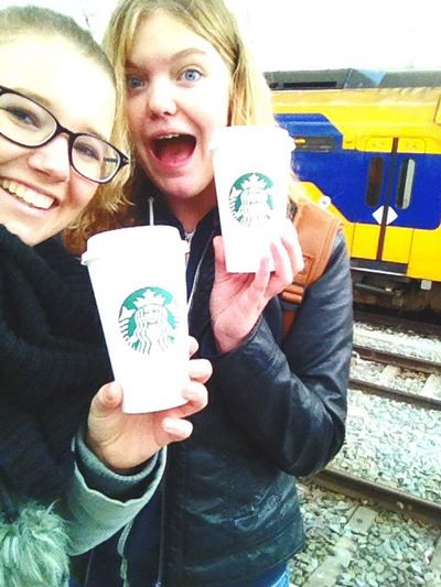 This was that one day when i went to Rotterdam with my niece 😍 we are so in love with Starbucks Starbucks Family❤ First Eyeem Photo