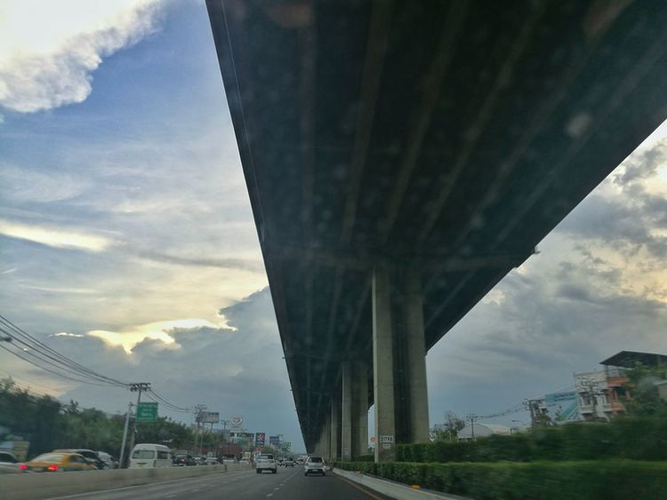 Bridge - Man Made Structure Transportation Built Structure Road Cloud - Sky Car Sky Day Cityscape First Eyeem Photo Lifestyles Mystory EyeEmNewHere Sunset And Clouds