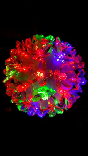 Black Background Multi Colored Red No People Variation Environmental Conservation Ethereal Illuminated Futuristic Neon Complexity Neon Colored Outdoors Lighting Equipment Lights Xmas Lights  Xmas Decorations