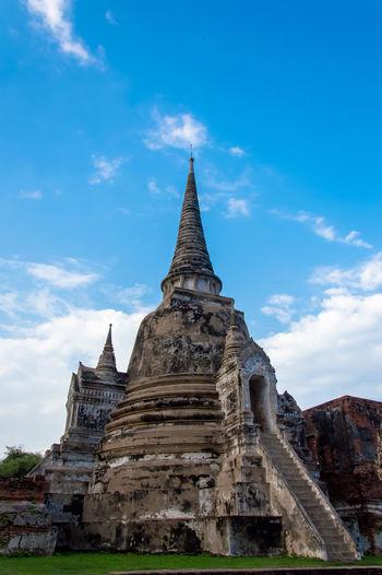 Facade Of Wat Yai Chai Mongkhon Against Sky
