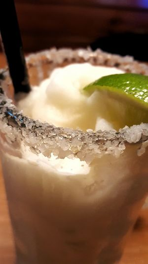 Macro Beauty Frozen Margaritas Margarita Salted Rim Lime