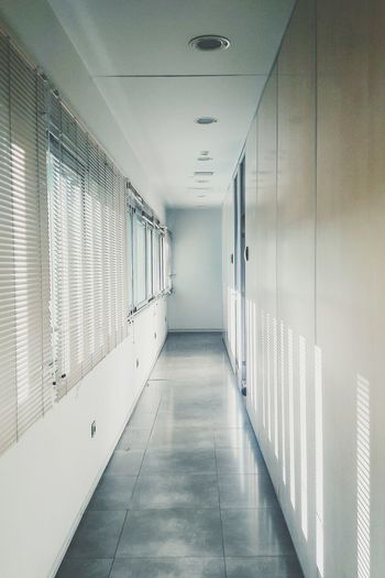 Corridor Indoors  Hospital Prison Architecture No People Day White Clear Clean Seville Tranquil Scene Samsungphotography Cleaning White Color Minimalist Minimalist Architecture