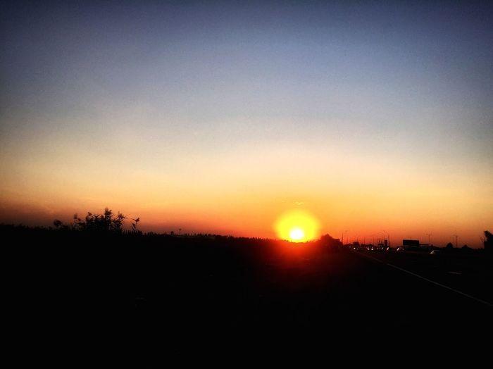 Sun Orange Color Nature Horizon Over Land Krasnodar Scenics Krdphoto Beauty In Nature Transportation First Eyeem Photo
