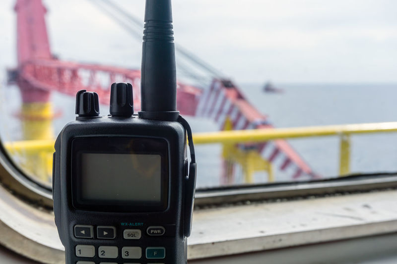 Communication Day Transportation Outdoors Mode Of Transportation Walkie-talkie Communication Radio Window Oil And Gas Industry Offshore Platform Oilfield Installation Construction Antenna