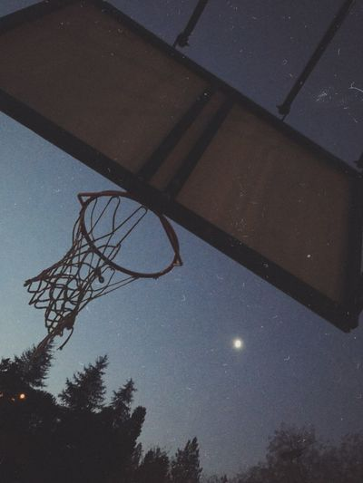 Basketball Court Basketball Game Film Is Not Dead Filmphotography Film Photography Low Angle View Sky Tree Nature No People Star - Space Night Outdoors Space Basketball - Sport Basketball Hoop Astronomy Silhouette