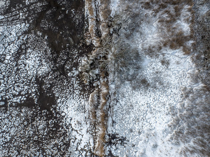 Fifty shades of water Cold Temperature Snow No People Winter Nature Day Tree Close-up Beauty In Nature Frozen Outdoors Full Frame White Color Tranquility Plant Water Motion Scenics - Nature Flowing Water Aerial View Aerial Photography Dronephotography