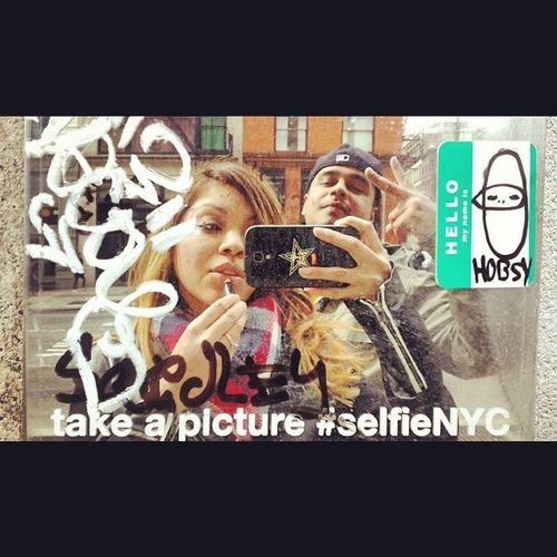 We are eachothers reflection, we represent eachother! Selfienyc Streetart Broadway NY Mirror ReflectionEternal cantfvckwithus bonnieandclyde highschoolsweethearts Selfies ObeyUs 10yearengagement love 2002andBeyond