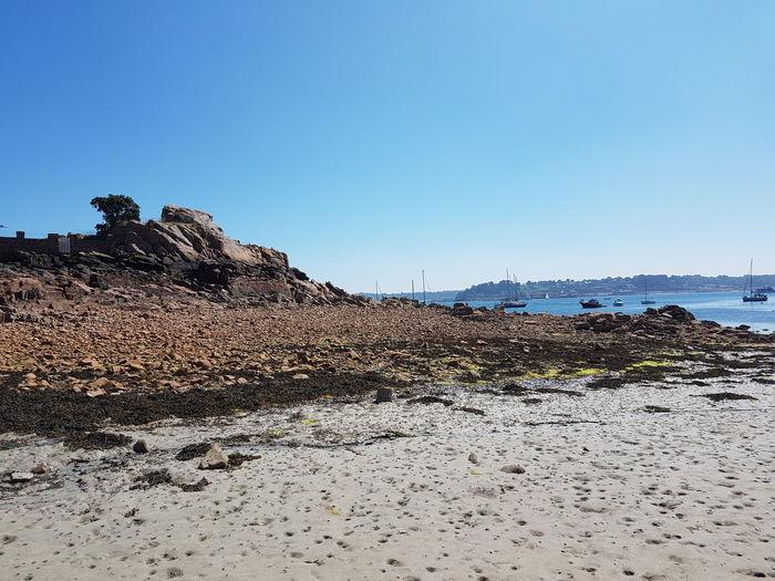 #picture #photography Travel #journey View Bretagne France Landscape Beachphotography Clear Sky Beach Sand Sand Dune Sky Wave Horizon Over Water Arid Landscape Seascape