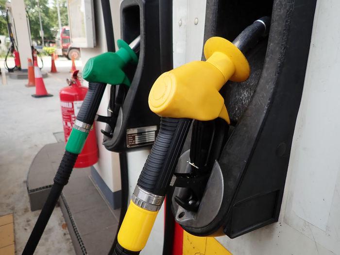 Fuel pumps at petrol station Petrol Gas Vehicle Fuel Transport Transportation Price Pump Station Refueling Oil