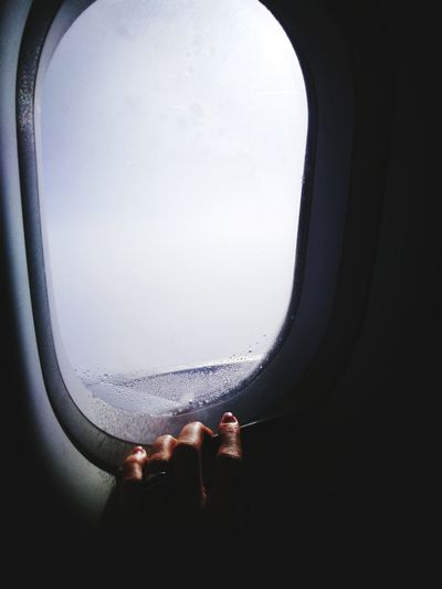 hope?! Hand Human Body Part Human Hand Airplane Window Low Section Airplane Flying Window Finger Human Finger Personal Perspective Vehicle Seat Body Part