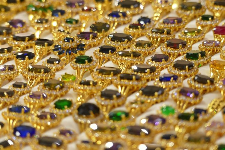 Close up of Imitation Stones Ring Wedding Background Fashion Full Frame Gold Colored Indoors  Jewelry Large Group Of Objects Luxury No People Ring Selective Focus Wealth