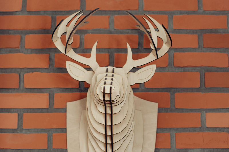 Brick Wall Brick Wall Wall - Building Feature Art And Craft No People Architecture Representation Human Representation Built Structure Pattern Creativity Close-up Building Exterior Red Day Outdoors Male Likeness Shape Front View