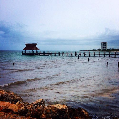 Muelle View Sight Landscape Sea Ocean Awesome Nature Vacations Turquoise Cancun