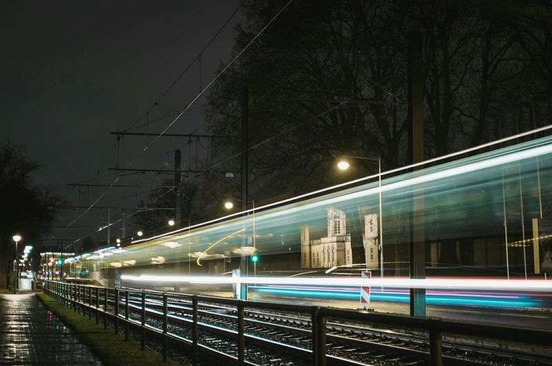 ~ 🚋🍃~ Night Illuminated Transportation Long Exposure Street Light Motion City No People Light Trail Built Structure Sky Connection Architecture Outdoors Getting Inspired Light And Shadow Canonphotography City Lights Road Streetphotography Cityscape Colorful Night Photography Capture The Moment Longexposure Mobility In Mega Cities