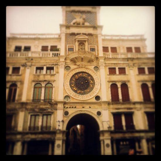 StMark 's Clocktower in Venice Italy carloponti