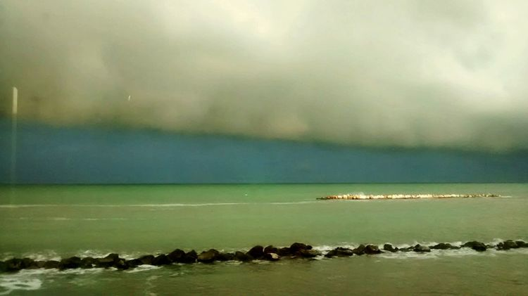 Adriatic Sea Adriatico Marche Italy Italia Sea And Sky Sea Glitch