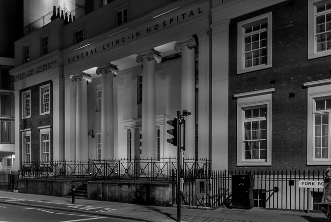 Central Lying-in Hospital, Lambeth, London London Lambeth  Hospitals Monochrome Black And White Architecture