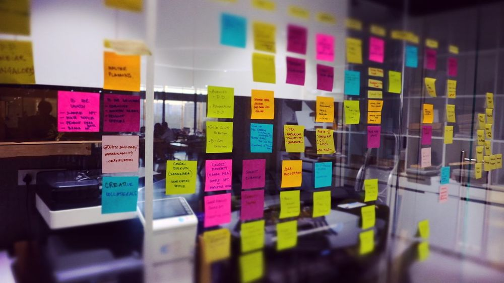 Multi Colored Indoors  Business Finance And Industry No People Day Post Its Post It Notes Officelife