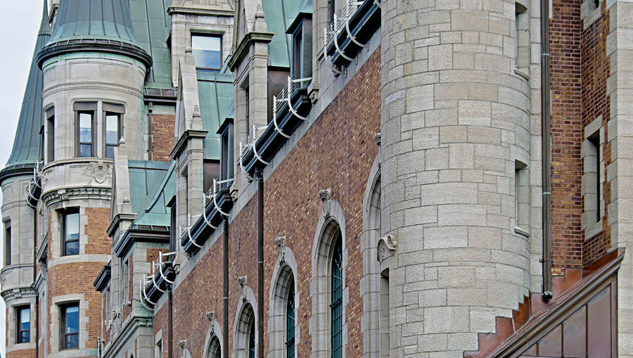 Low Angle View Of Chateau Frontenac Hotel