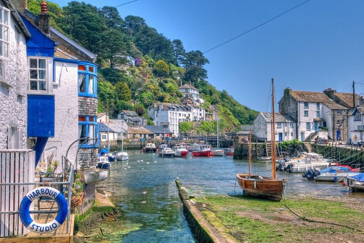 Polperro HDR Taking Photos Relaxing Summertime Blue Sky Cornwall Cornish Coast Summer Holidays Summer ☀