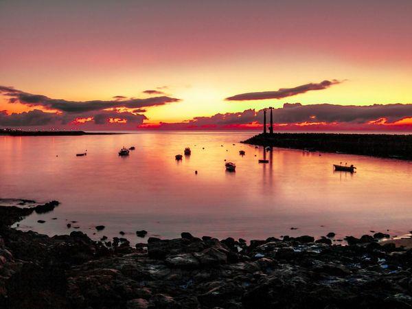 Landscape Costa Teguise Lanzorote Sunrise Silhouette Sunrise_sunsets_aroundworld Mybestphoto2015