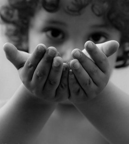 Dad, I found something for you. (2) People Blackandwhite Childhood Child Hands