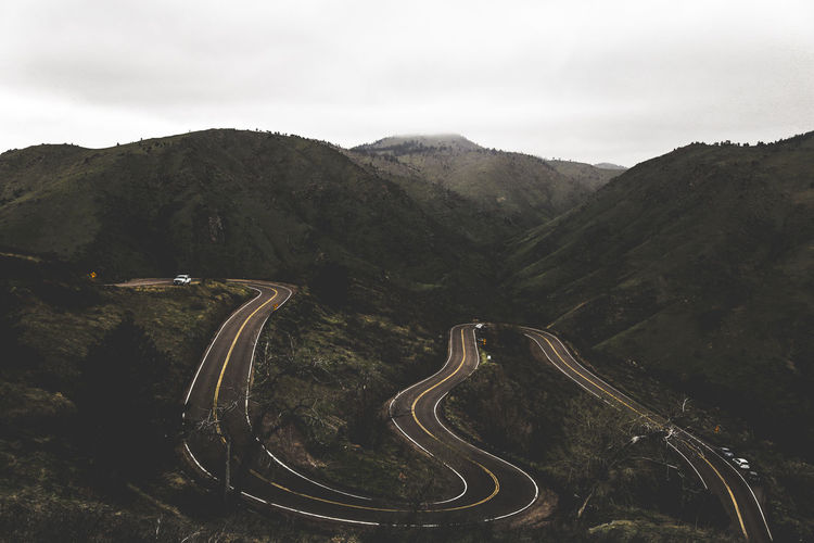 Colorado EyeEm Nature Lover EyeEmNewHere High Angle View Landscape Mountain Nature Nature Photography Nature_collection Outdoors Road Scenics Winding Road