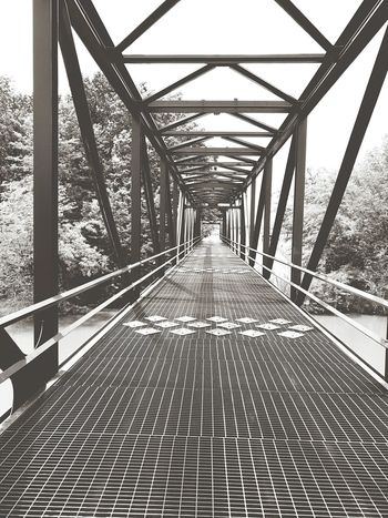The Way Forward Built Structure Outdoors No People Architecture Bridge - Man Made Structure Metal Black And White Photography Connection Sky