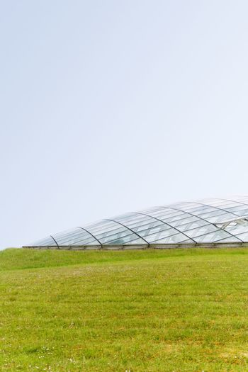 Architecture Structure Glass Alien SpaceShip Wales Garden Botanic Sky Environment Grass Nature Landscape Land Tranquility Field Plant Beauty In Nature Scenics - Nature Clear Sky The Architect - 2018 EyeEm Awards