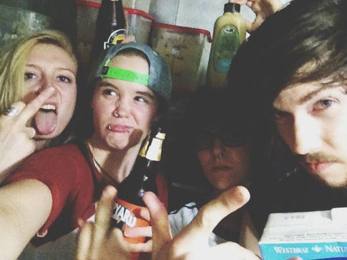 The work crew. Work Friends Beer