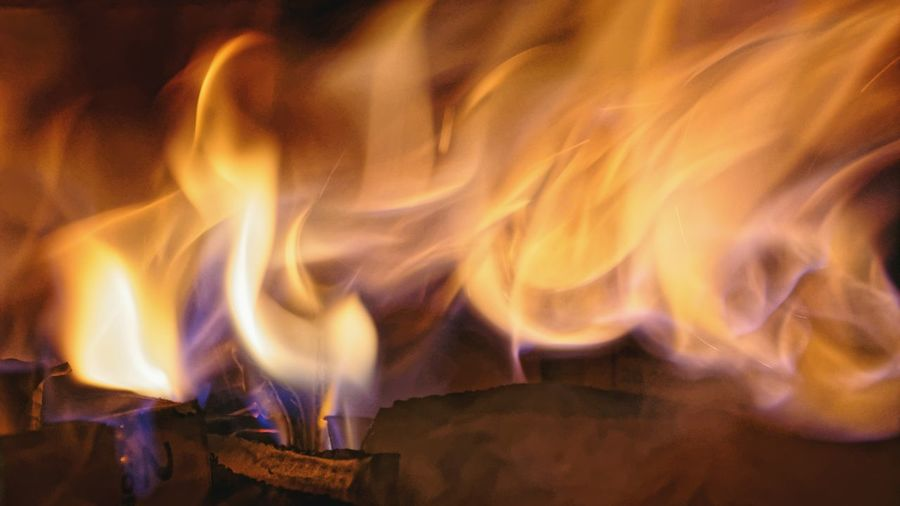 Close-up of fire