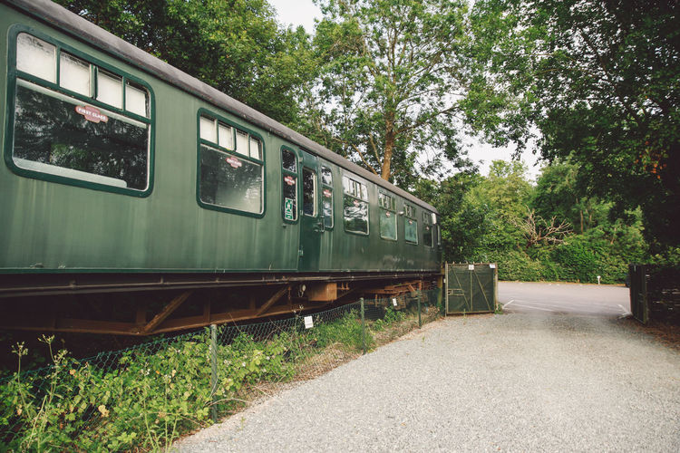 Absence Day Diminishing Perspective Empty Green Green Color Growth Hever Nature No People Outdoors Plant Sky Sunset The Way Forward Train Carriage Tree