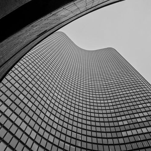Curved Tower Chicago Chicago Bw Blackandwhite architecture latergram