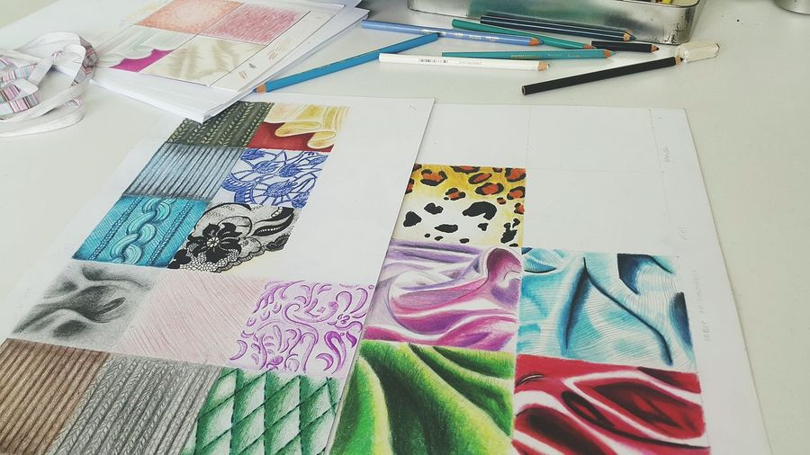 Prismacolor Texturestyles Fabric Detail Illustration Fashiondesign