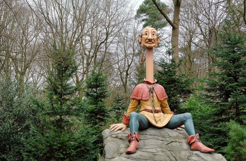 Attraction theme park the Efteling, Kaatsheuvel, the Netherlands. Tree Plant Representation Nature Day Full Length Forest Land Human Representation People Childhood Sitting Front View Leisure Activity Fun Toy Group Of People Creativity